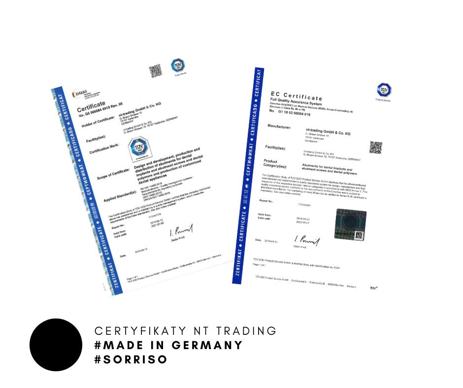 NT TRADIN certyfikowane zamienne komponenty implantologiczne
